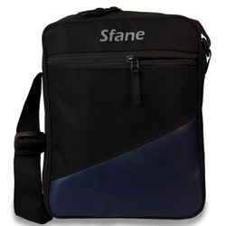 Sfane Black And Navy Blue Zipper Sling Bag