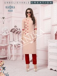 Kanika Aditi Vol 3 Silk Casual Wear Fancy Straight Kurti Seller