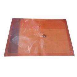Orange Button File Folder