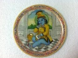 Miniature Painting On Plate