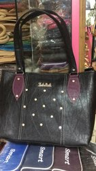 Black PU Leather Ladies Bag