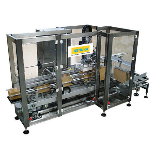 Automatic Case Packer for Tetra Pack Brick Machine Model-RCPT-10, केस पैकर  - Renuka Packaging Machines & Automations, Mumbai | ID: 19121432197