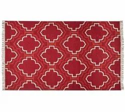 Cotton Red Indoor Outdoor Table Runner