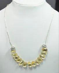 Lemon Topaz 925 Sterling Silver High Furnished Necklaces
