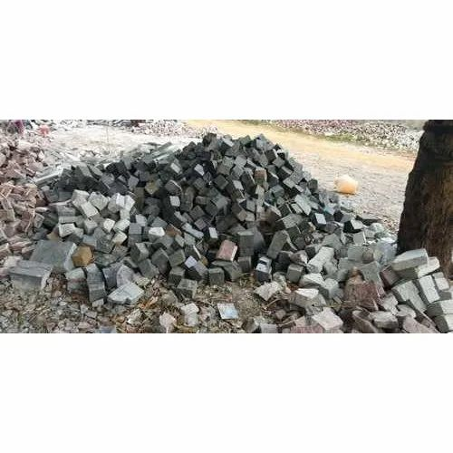Rough Granite Grey Cobblestone Cubes, for Landscaping and Pavement
