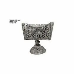 White Metal Visiting Card Holder Office Tableware Gift