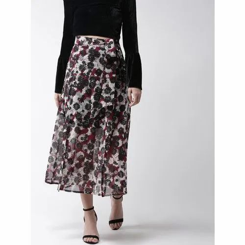cheapest pick up autumn shoes Women Casual Wear Floral Mid Length Skirts