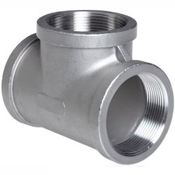 Stainless Steel Silver MS Tee Fitting , Application: Hydraulic Pipe , Gas Pipe