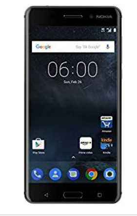 Nokia 6 Matte Black Mobile