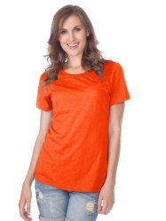 Polyester Women Ladies Half Sleeve T-Shirt, Age Group: 1-65