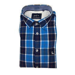 Mens Cotton Casual Wear Parx Shirt, Size: 36-46