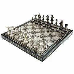 Velvet Storage Brass Carving International Chess Set
