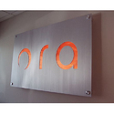 Ora Signage Letter (Through Cut On Stainless Steel Pleat )