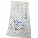 Cotton Dot Printed Bath Towel, Size: 28-100 Cm