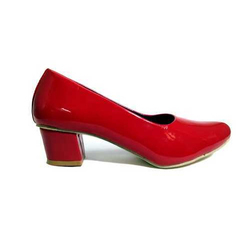 Red Synthetic High Heel Ladies Belly
