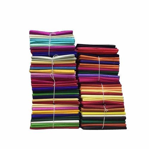 f40d7024da Green & Yellow Multicolor Plain Cotton Saree Fall Fabric, Rs 115 ...