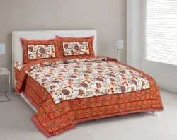Floral Printed Cotton Bed Sheets for Double Bed