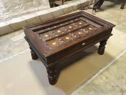 Wooden Coffee Table with Antique Fininsh For Home