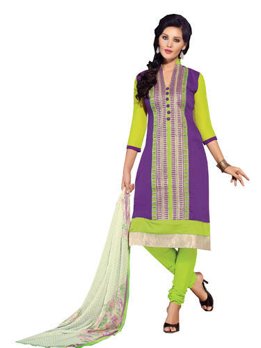 2cd061373a Party Wear All Sizes Chanderi Cotton Embroidered Salwar Kameez, Rs ...