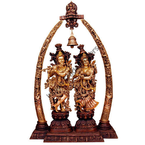 Bon Radha Krishna Temple Statue Big Home Decor Idol 4 Feet