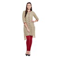 Printed High Low Style Kurti