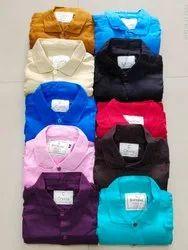 Full Sleeve Mens Plain Cotton Shirt