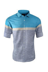 Blue Striped Casual Wear Shirt
