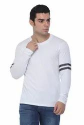 Cotton Printed Mens Fancy Full Sleeve T Shirt, Size: S-XXL