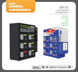ENRG commercial charging station with Coin Operated Charging Locker - 6 Bay (80CHS003)