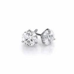 Moissanite Diamond Stud Earring