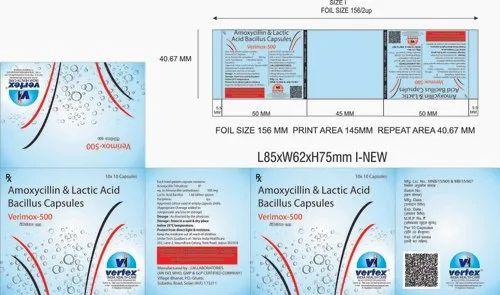 Amoxicillin 500mg & Lactic Acid Bacillus Capsules