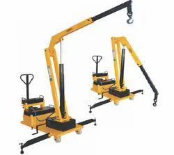 Hydraulic Floor Cranecounter Balanced Type With Rotating Swiveling Boom