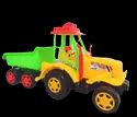 Multicolor Hi Class Plastic Tractor Trolly Toy, Child Age Group: 0-5
