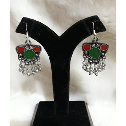 Oxdised German Silver Preciosas Earrings