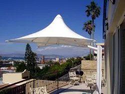 PVC And FRP Tensile Umbrella Structure