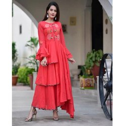 Designer Embroidered Kurti Gown