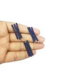 Blue Sapphire Faceted Rondelle Beads Bar Pendant