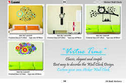 pvc wall decals Syga Sticker Wall Clock