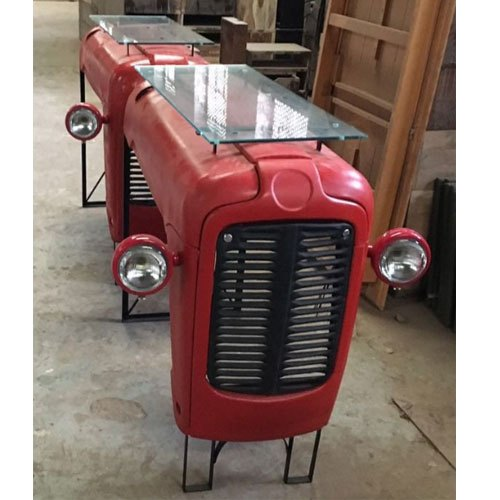 Iron Tractor Shaped Restaurant Table