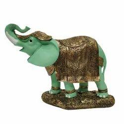No 1 Green Elephant Statue