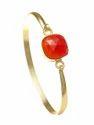 Beautiful Handmade Astrix Fine Black Moonstone Cushion Bangle Bracelet Hot Model Jewelry For Ladies