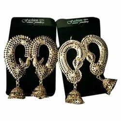 Navya Golden Ladies Artificial Designer Jumki Earrings
