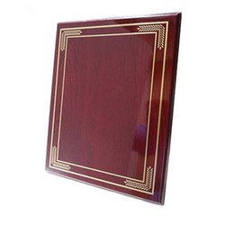 Simple Red Certificate Plaque