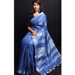 Blue Ladies Art Silk Saree