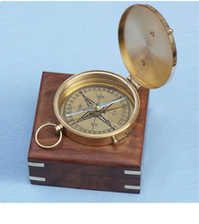 Maritime Compasses Antiques Cheap Price Heavy Ground Level Measuring Compass And Case Wood Nautical Gift Compass Brunton Modern And Elegant In Fashion