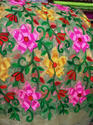 Multi Color Net Embroidered Fabric