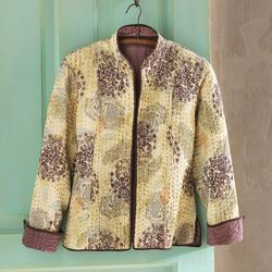 Kantha Quilted Reversible Jacket