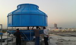 Round Shaped FRP Cooling Towers