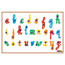 Colorfull Educational Toys Inset Board Cursive Small, Size/Dimension: 12x12