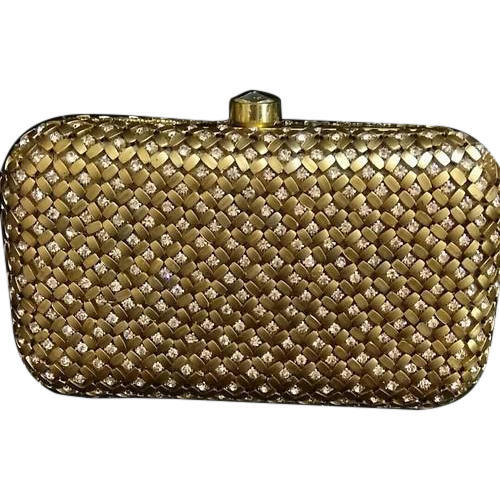 807bf3f03 Golden Clutch Bag, Rs 1250 /piece, Ibra Handicrafts | ID: 19351284812